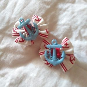 Anchor Sailor hair Bows